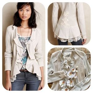 Anthropologie Angel Of The North Grey Cardigan